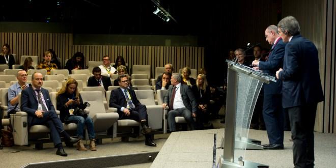 EP-Präsident David Sassolis Rede vor dem Europäischen Rat