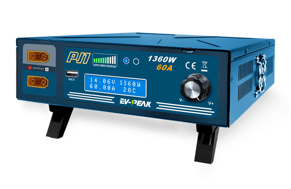 Variable Power Supply 12 55 Volt Uses Switching Technology For High Efficiency