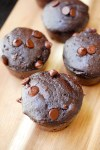 skinny double chocolate chip muffin