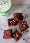 Melted ice cream mint chocolate chip brownies