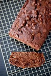 Whole wheat double chocolate chip banana bread