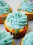 one bowl funfetti cupcakes