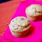 Cranberry spiced acorn squash muffins