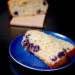 Blueberry lemon Greek yogurt loaf bread