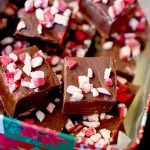 Easy 4-ingredient microwave chocolate peppermint fudge