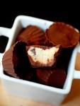 Mini (eggless) chocolate cookie dough cups