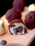 Chocolate covered (eggless) cookie dough truffles