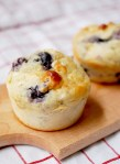 Small batch blueberry cottage cheese muffins (one bowl)