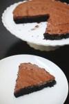 Flourless chocolate cake with Greek yogurt chocolate ganache frosting