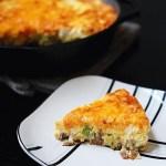Sausage and broccoli frittata