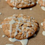 Old fashioned iced oatmeal cookies