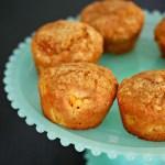 Pumpkin and peach muffins