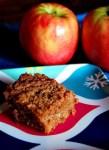 Hot apple crumble bars