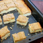 Gooey Biscoff butter cake bars