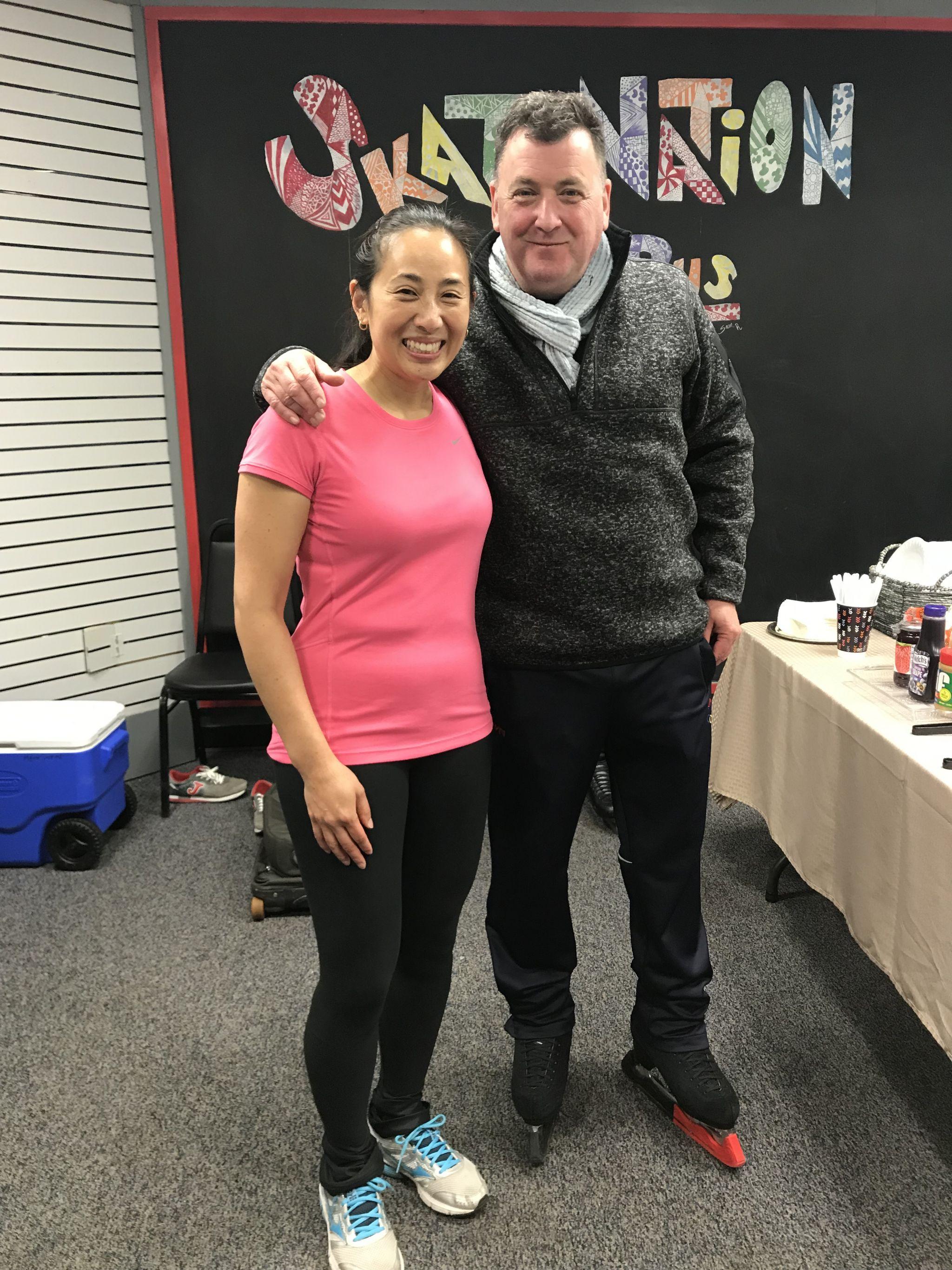 Eva with Brian Orser