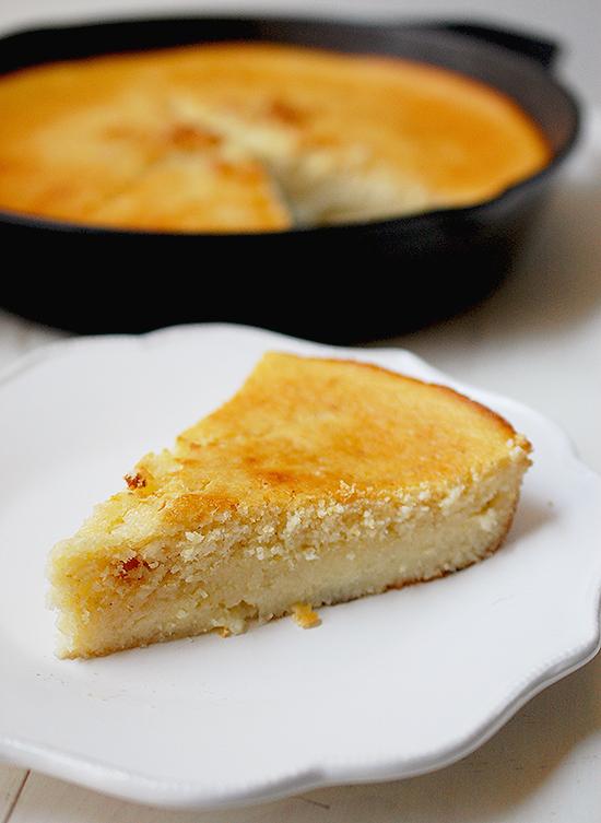 cornmeal custard cake
