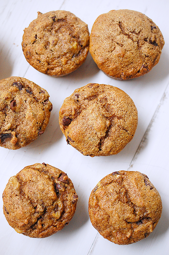 banana chocolate chip muffins