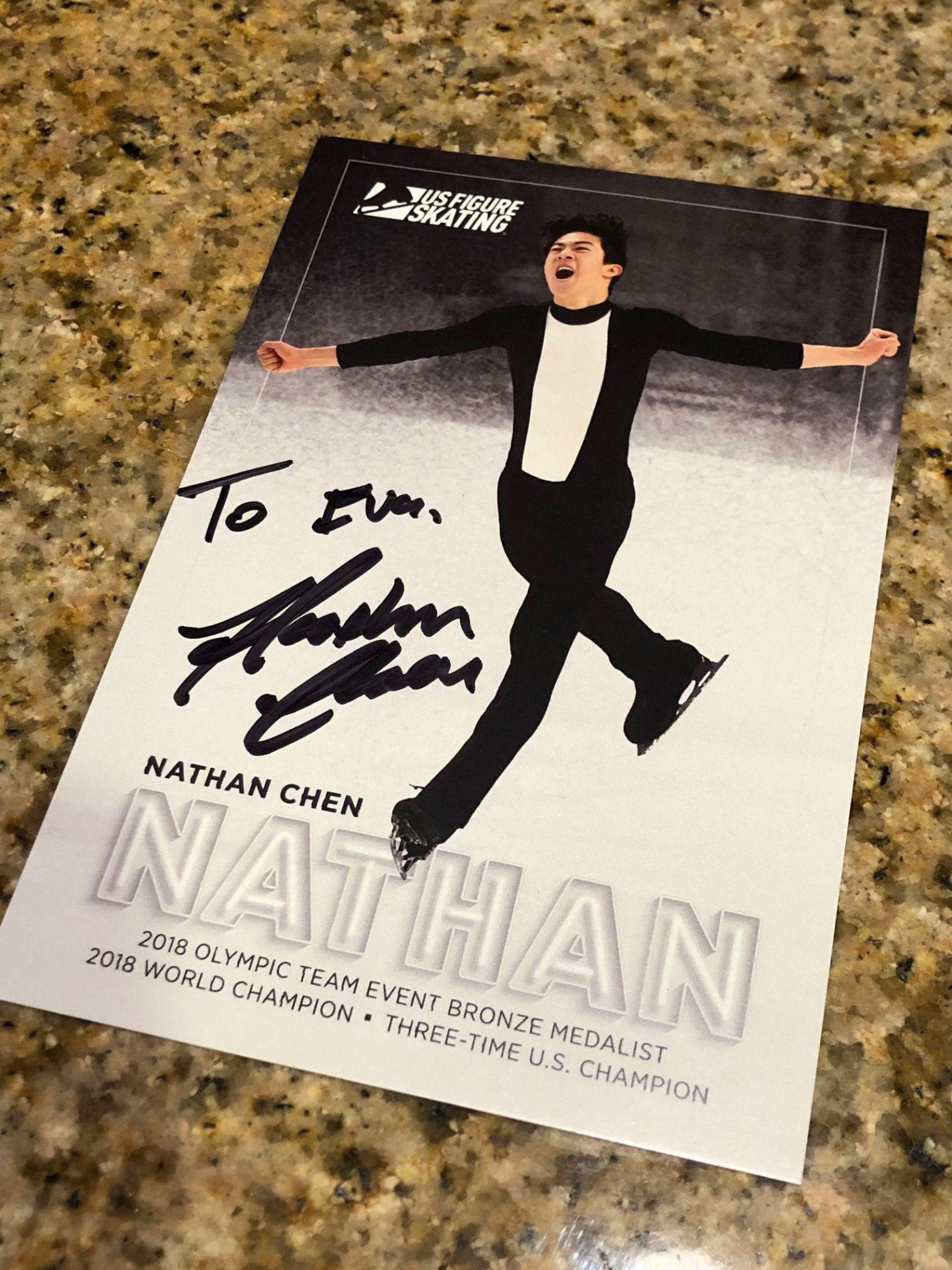 Nathan Chen autograph