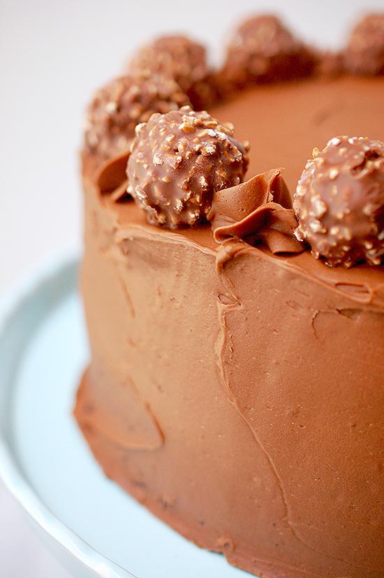 chocolate nutella salted caramel cake