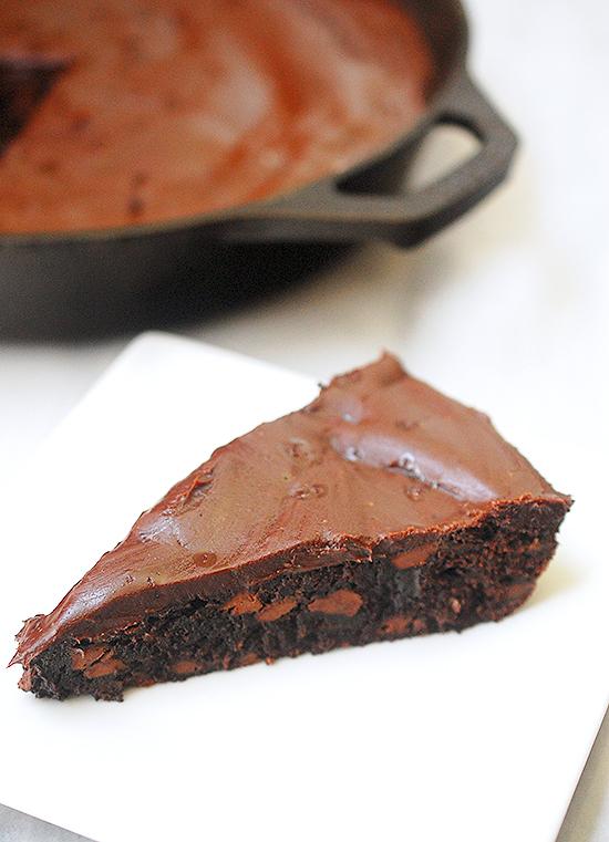 one pan skillet brownie