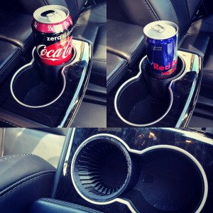 Tesla Model S/X Can Holder Adaptor for tesla cup holders. Designed for tesla armrest cup holders
