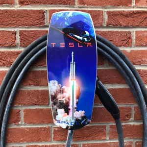 Tesla High Power Wall Connector Skin Vinyl Decal Falcon Heavy