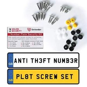 Anti Tamper Registration Plate Screws