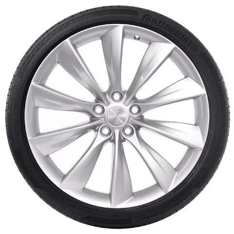 Tesla-Model S Silver Turbine Wheel