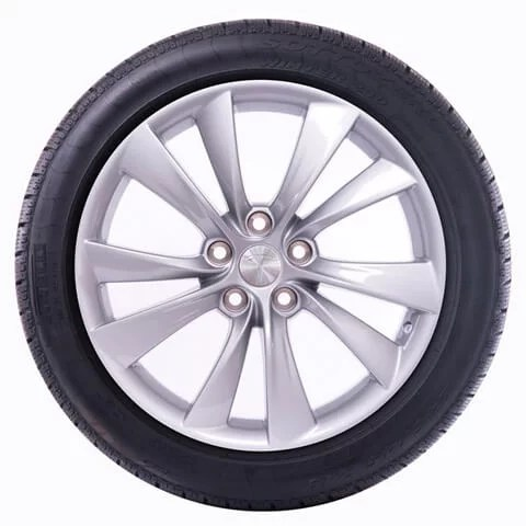 "Model X 19"" Cyclone Wheel and Winter Tire Package"