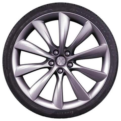 Tesla Model X Silver Turbine Wheel
