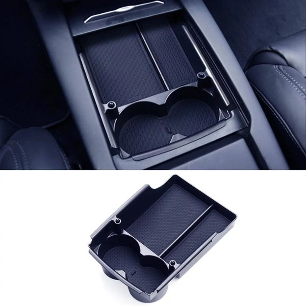 Tesla Model S Mode X Centre Console Organiser Tray with Cup Holders.