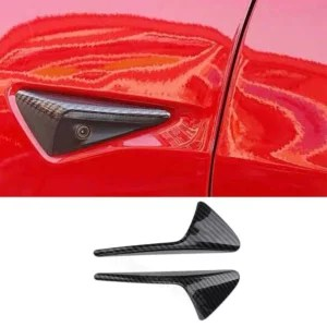 Tesla Model S 3 X side camera Carbon fibre De-Chrome