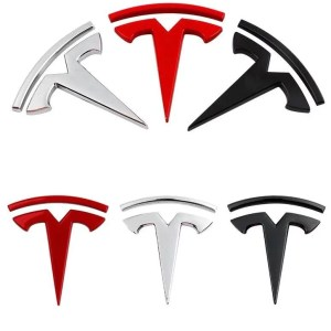 Coloured Car Logos - Tesla