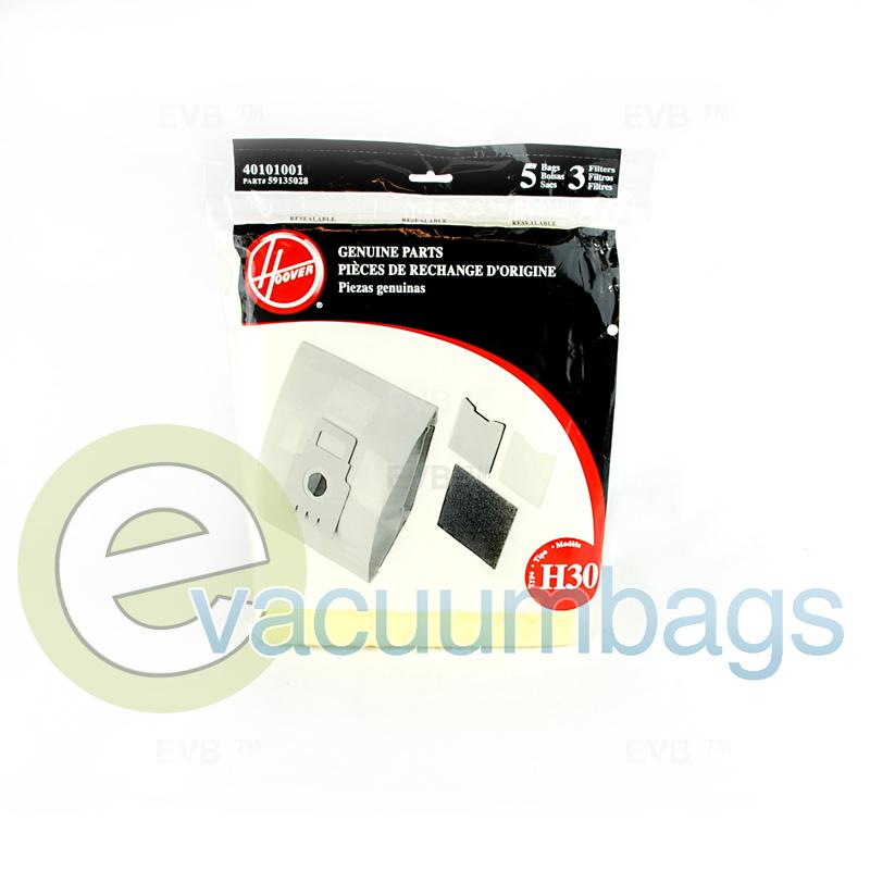 Hoover Type H30 Vacuum Bags 5 Pack  3 Filters 40101001