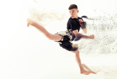 Jamie Miles - Jump Back Kick Demonstration