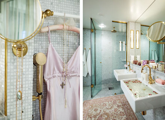get this look: polished brass bath - interior design inspiration