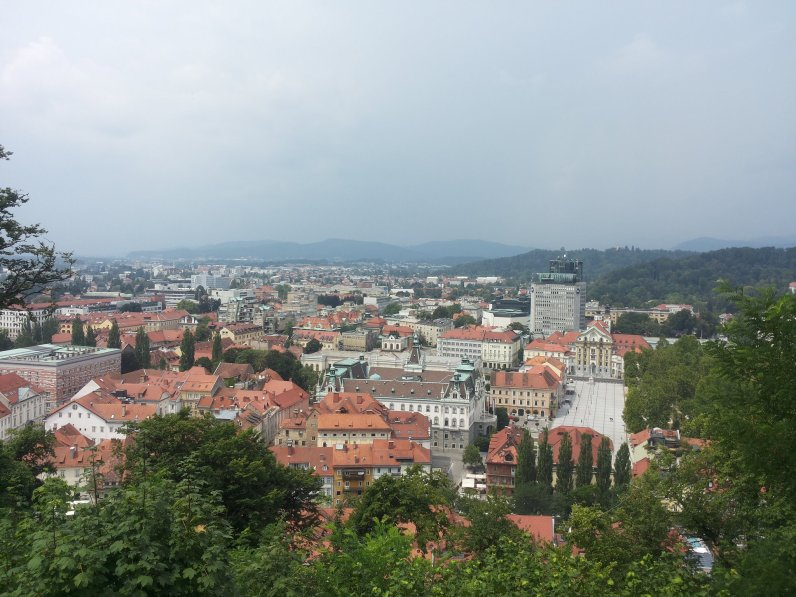 City view from Ljubljanski Grad