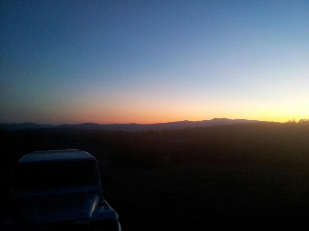 Jeep met Sunset