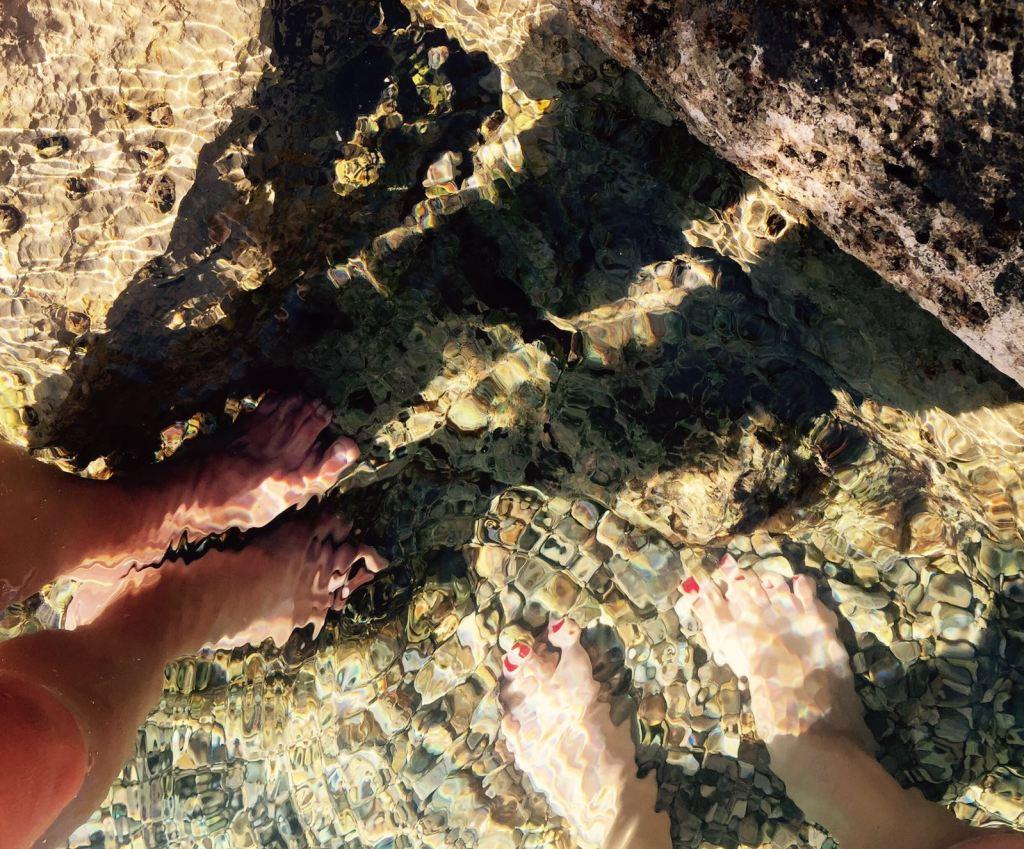 feet-sea-starigrad-paklenica-croatian-coast