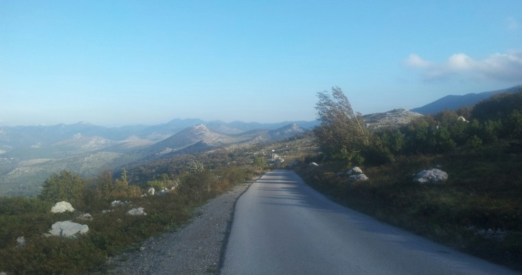 the-road-in-between-velike-kapela-croatia-via-dinarica-white-trail