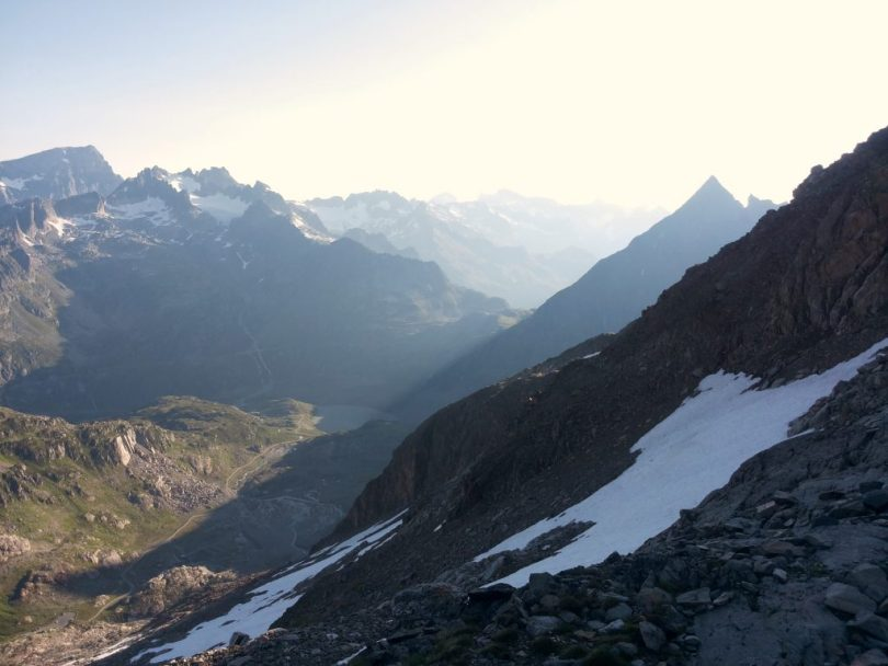 Early morning start to climb the Sustenhorn, Switserland