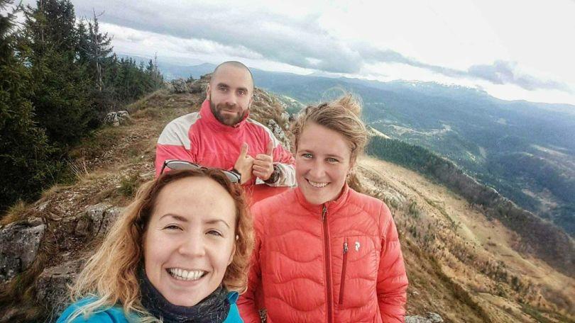 Op de top van Trebević bij Sarajevo