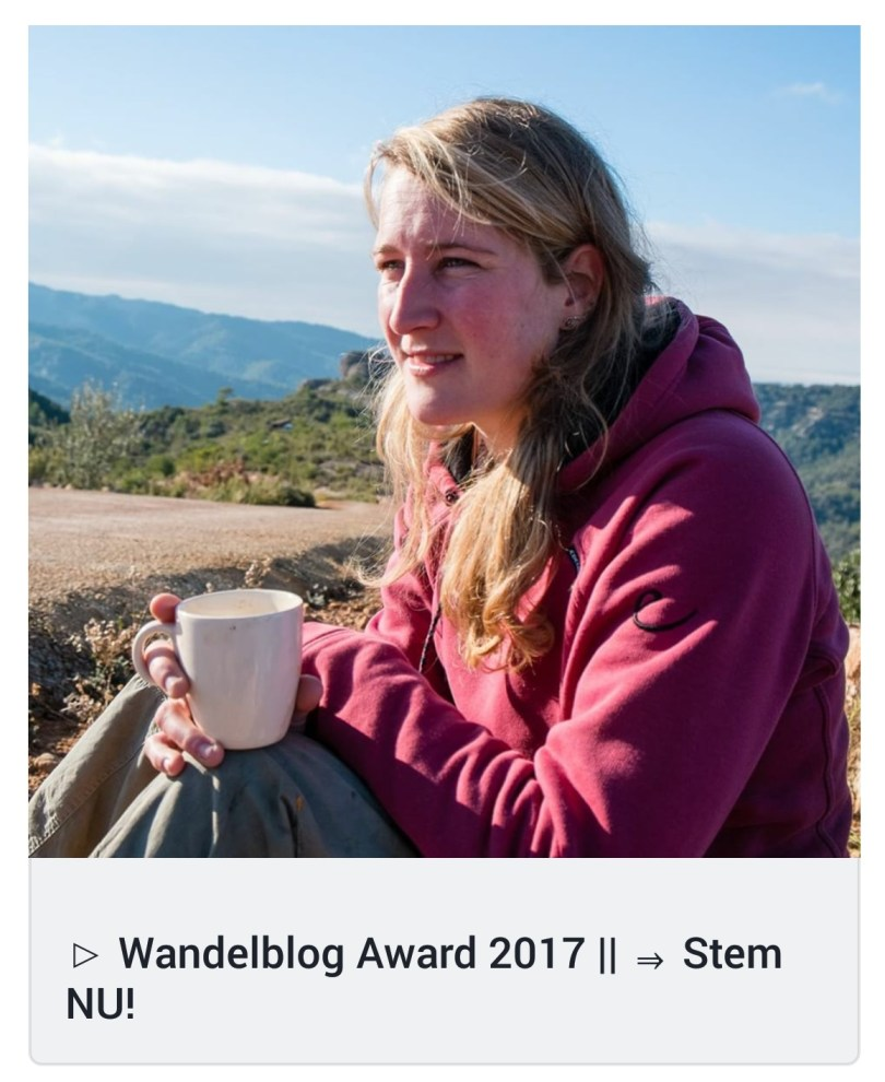 Wandelblog Award 2017 - winterse wandelvlog