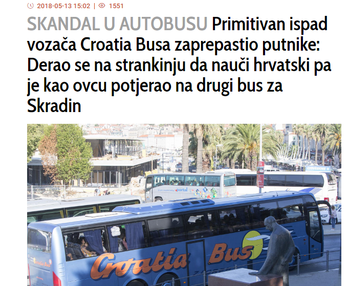 How a relatively simple bus ride from Zagreb to Knin turned into a scandal