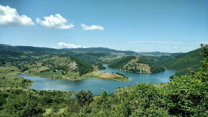 Šaponsjki vrh view on Uvačko jezero
