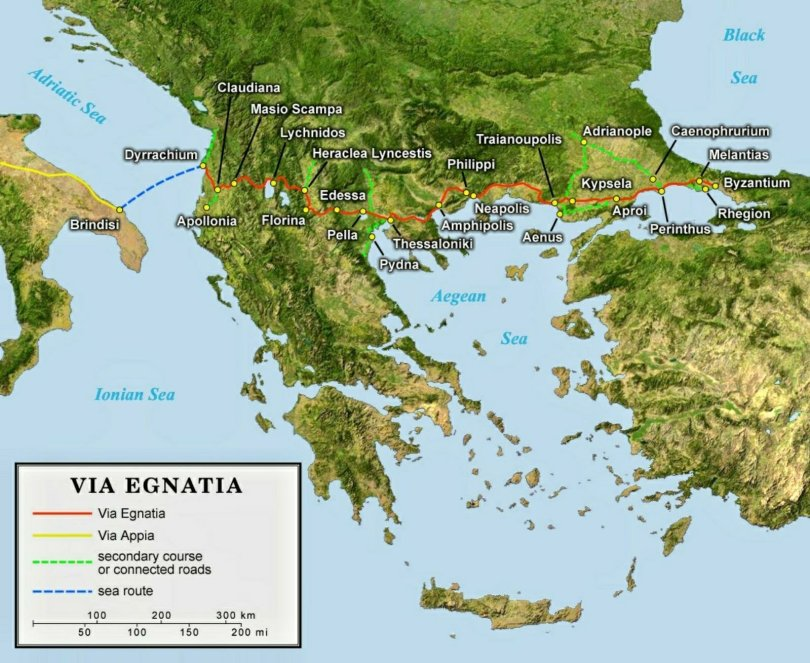 Via Egnatia map