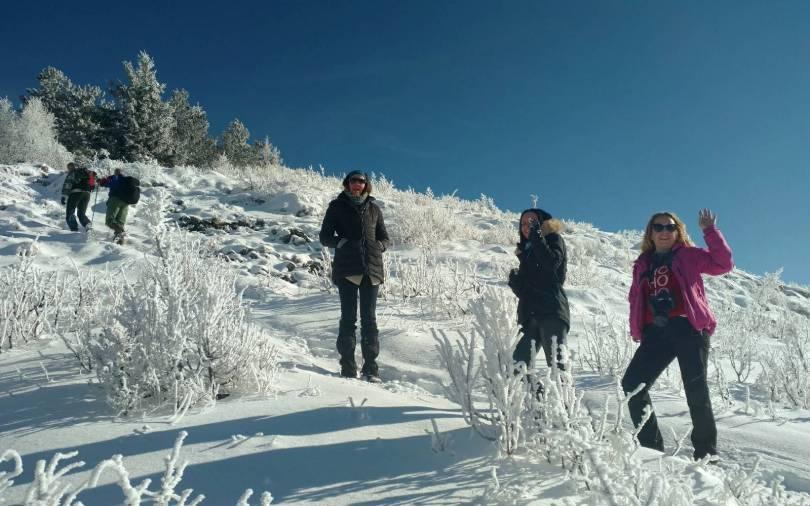 Slowly going up Trebević mountain