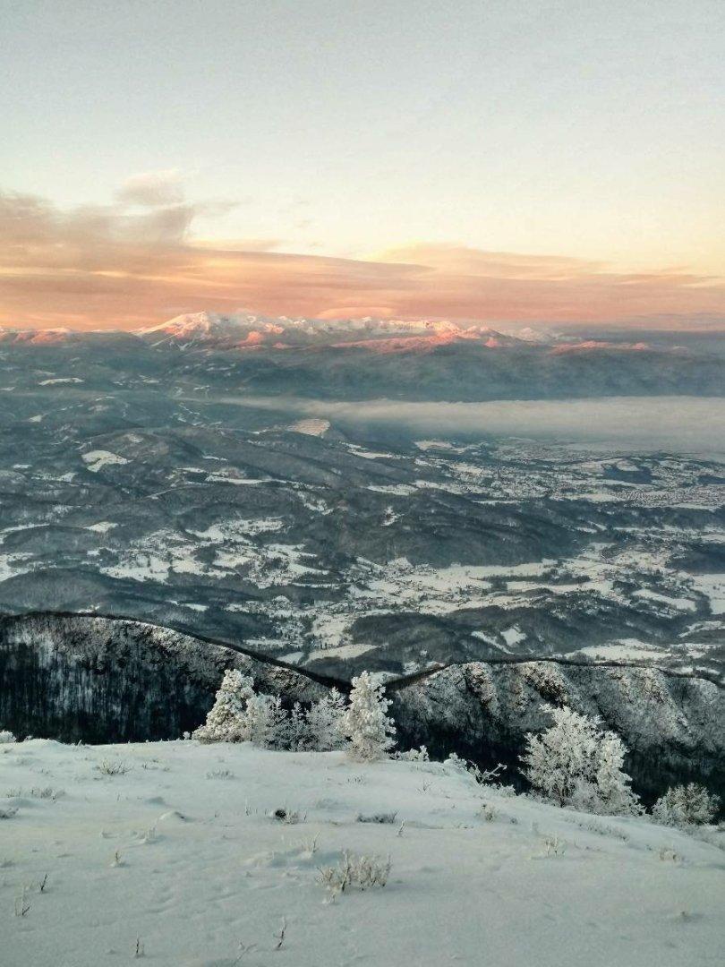 Sunrise above Sarajevo