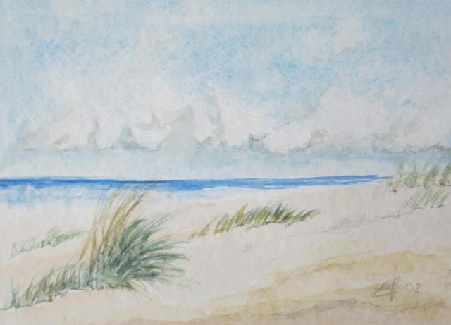 Dünenlandschaft, 2008, mit Passepartout und Rahmen, 40 x 50 cm