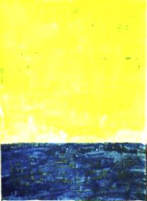 Gelb und Blau, 2001, mit Rahmen